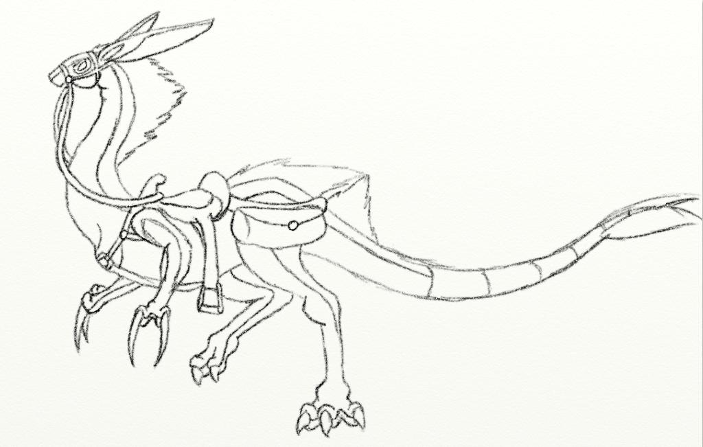 1024x651 Nemus Saddle Sketch By Akirathedragon