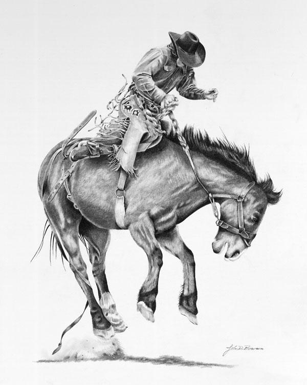 600x751 Saddle Bronc 2 By Graphiteartistaz