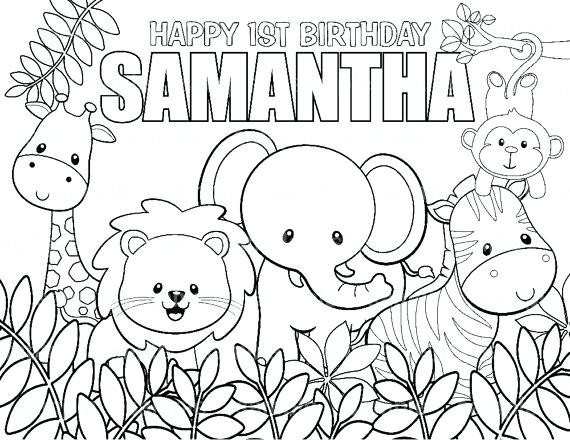 570x440 Simple Safari Coloring Pages Print Personalized Printable Jungle