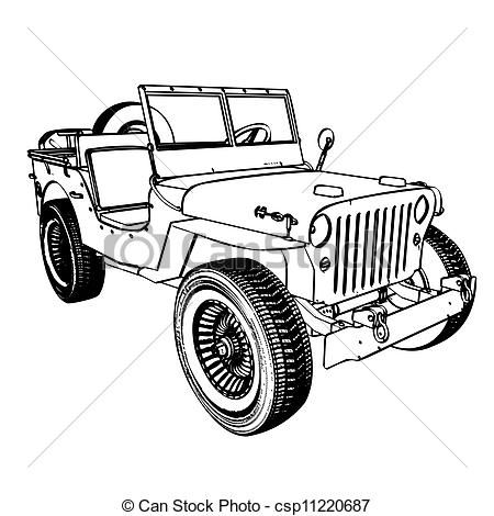 Safari Jeep Drawing