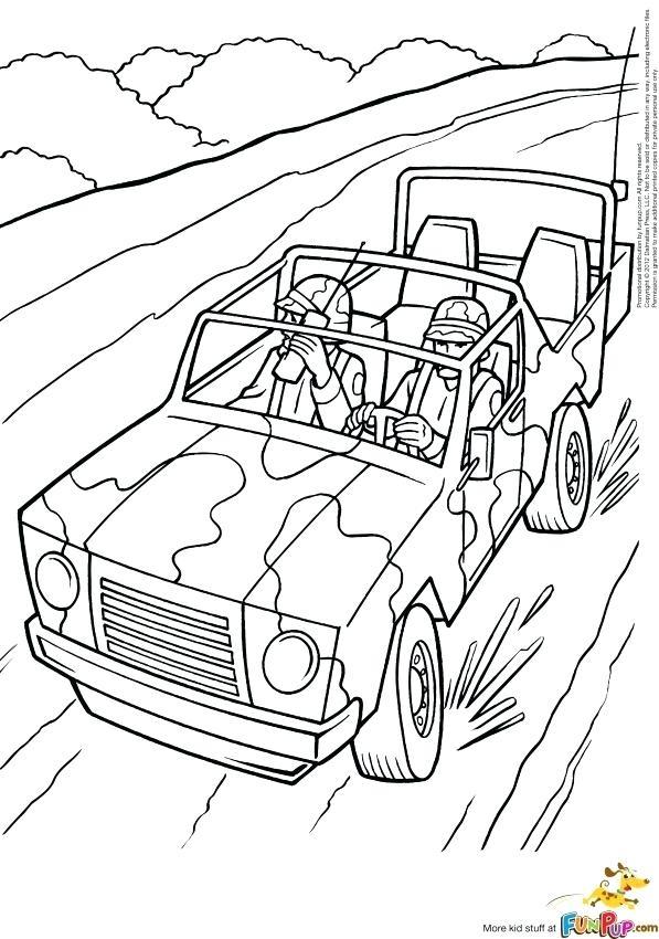 597x850 Jeep Coloring Pages Safari Jeep Coloring Page Page 1 Safari Jeep