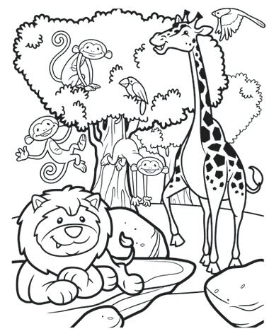 safari coloring pages free - photo#32