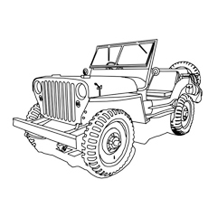 230x230 Top 10 Free Printable Jeep Coloring Pages Online