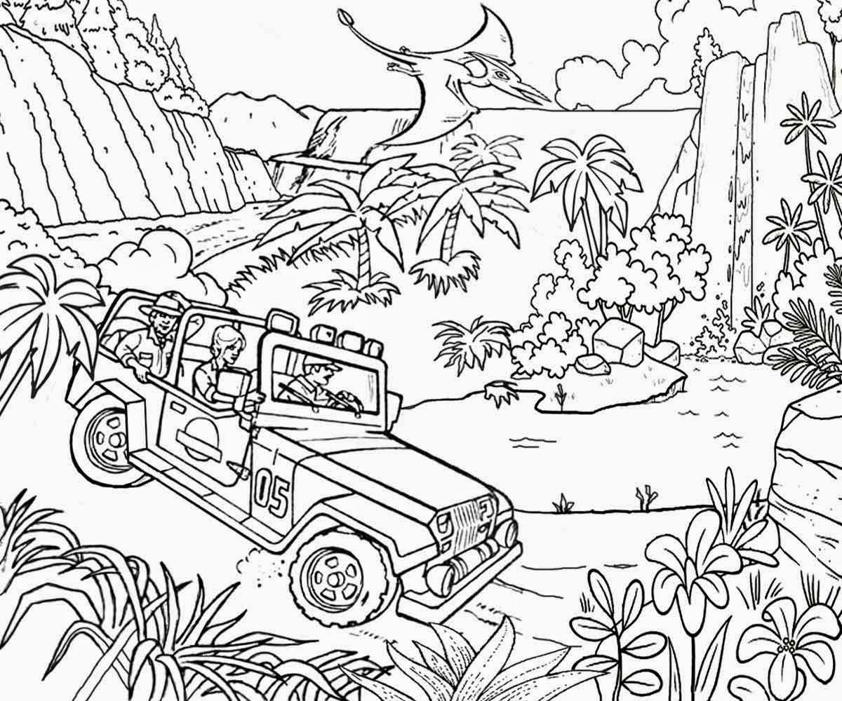 Safari Jeep Coloring Pages Bltidm