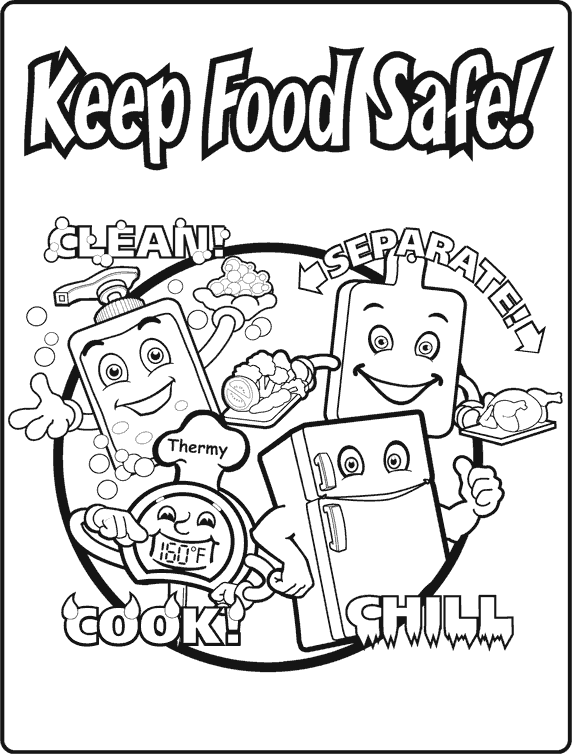 572x754 Keep Food Safe! Foods Interactive Notebook Food Safety