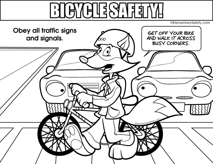 720x556 Coloring Bicycle Safety