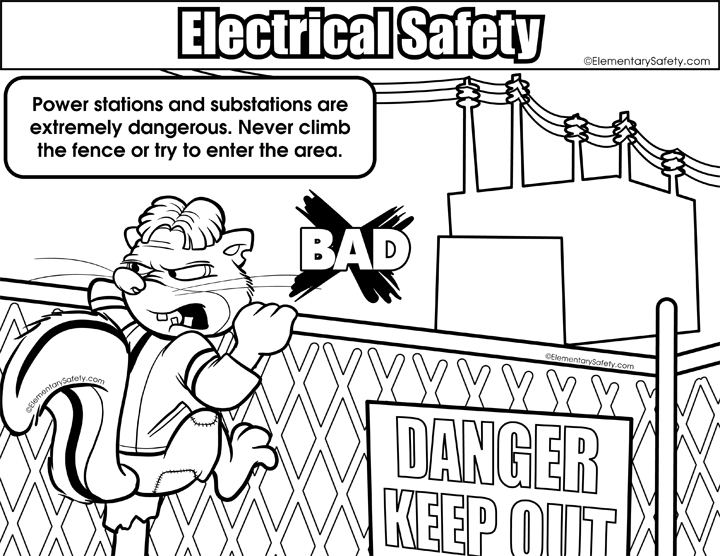 720x556 Coloring Electrical Safety