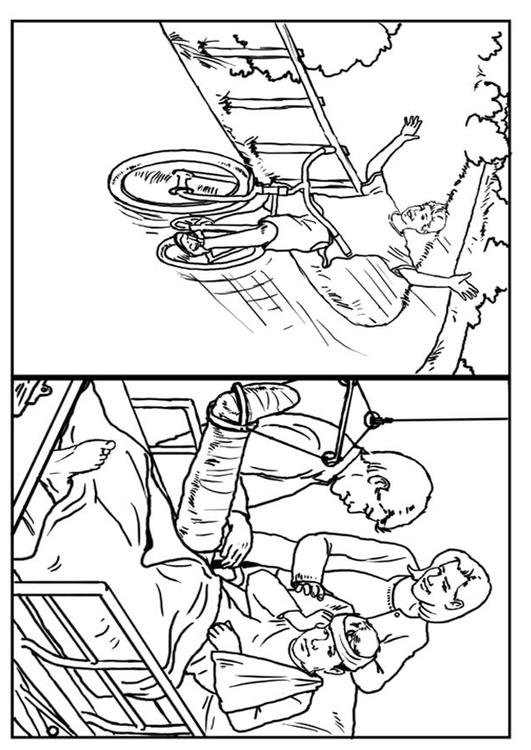 531x750 Coloring Page Bike Safety