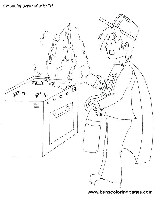 595x756 Fire Prevention Coloring Sheets Safety For Kids Pages Perfect All