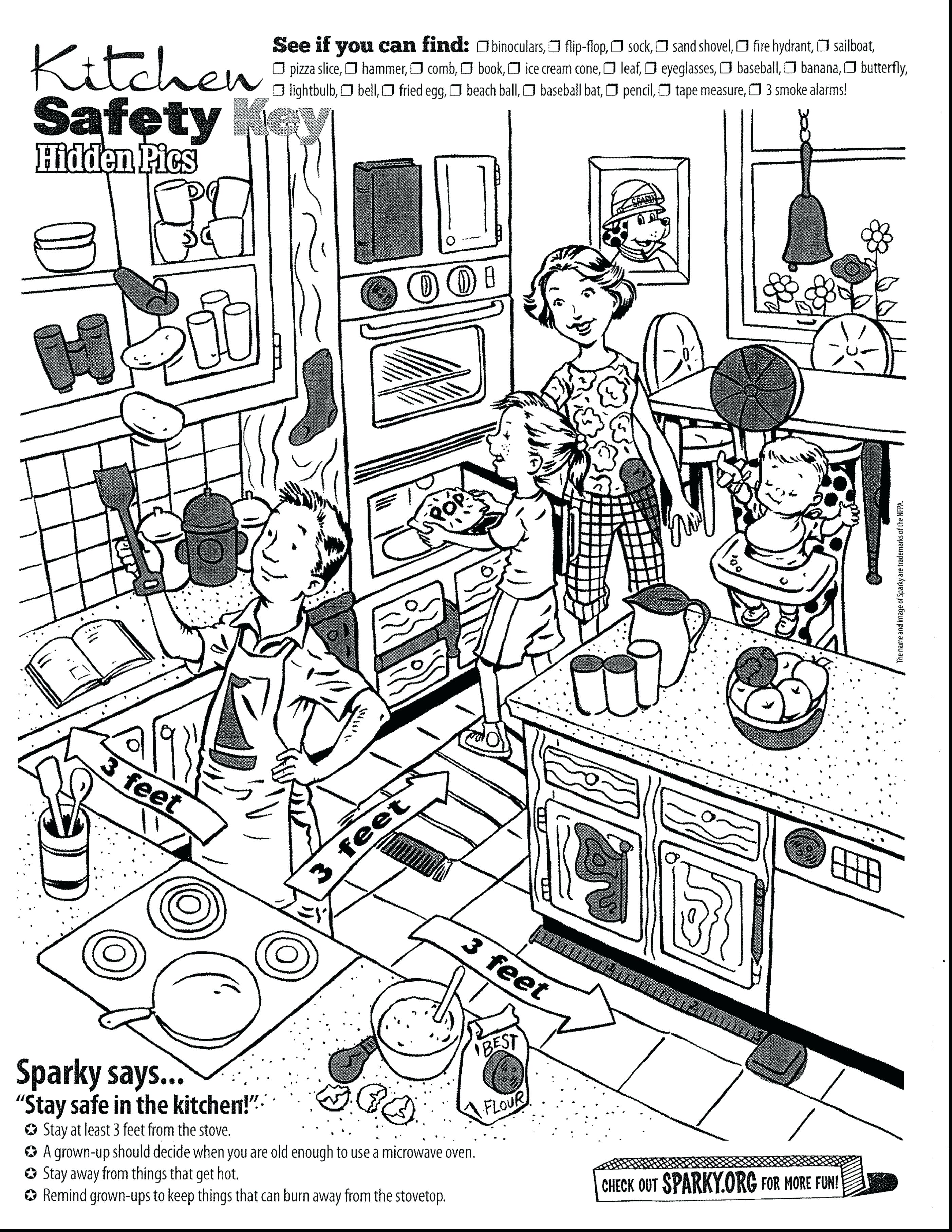 2805x3630 Coloring Kitchen Coloring Page