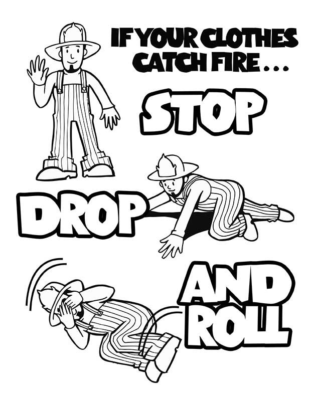 Safety drawing images at free for for Free printable fire prevention coloring pages