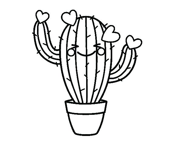 graphic about Free Printable Cactus Coloring Pages identified as Saguaro Cactus Drawing at  Cost-free for