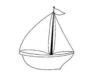 346x253 Sail Boat Coloring Pages For Preschool And Kindergarten