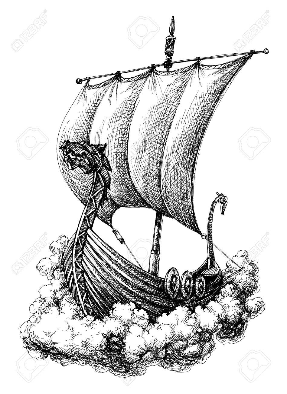 949x1300 Sail Boat Drawing Royalty Free Cliparts, Vectors, And Stock