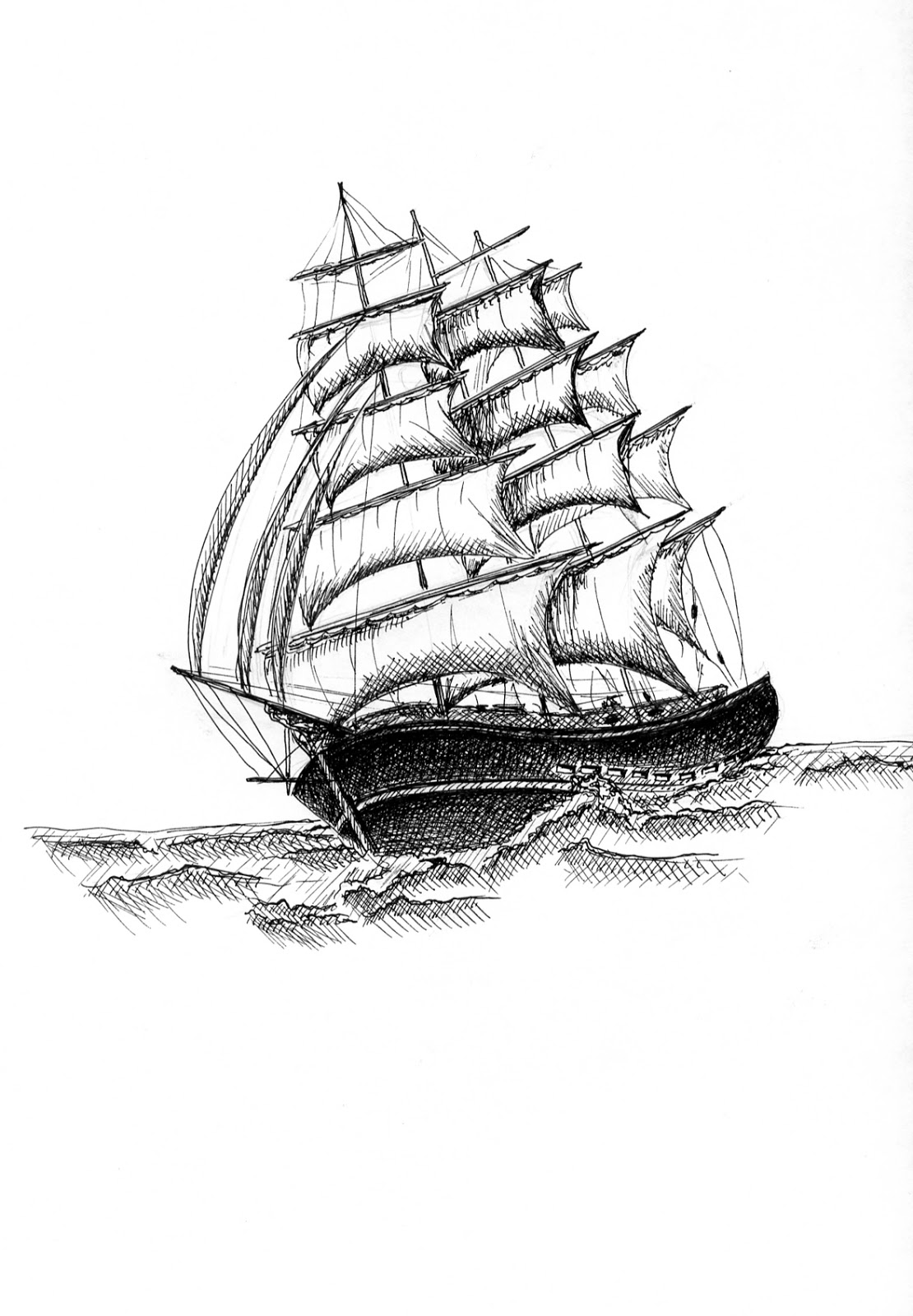 1110x1600 Ocracoke Island Journal Sailing Ship