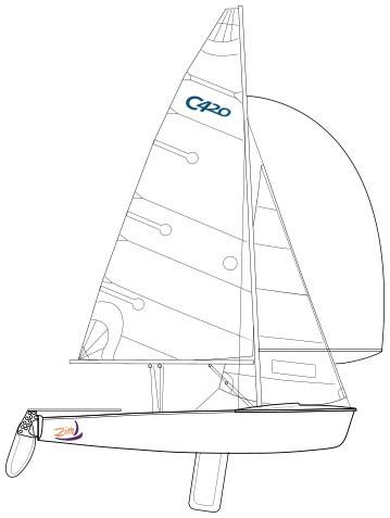 359x477 Club 420 Sailboat Green Stripe