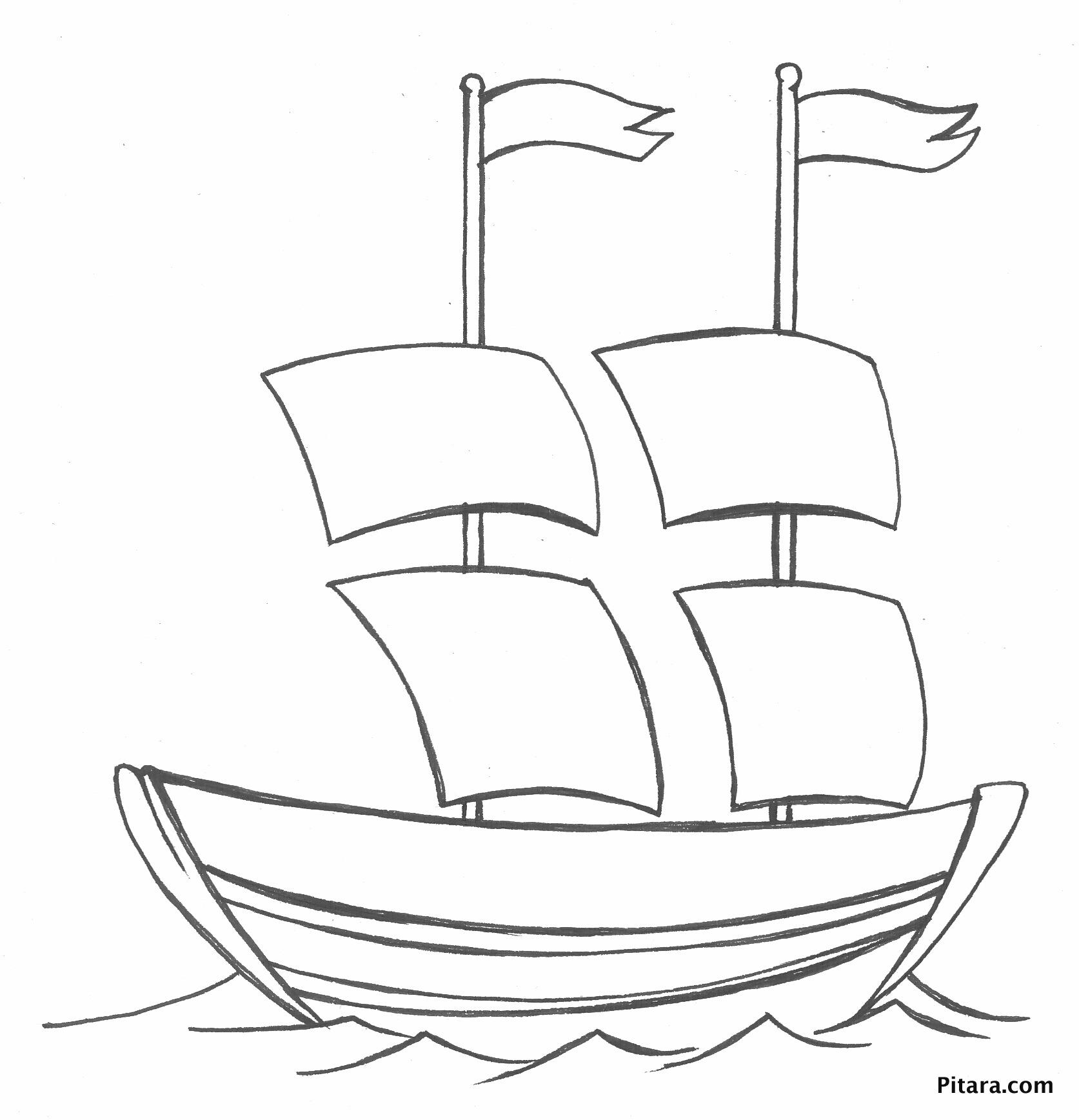 1673x1736 Sail Boat Coloring Page Pitara Kids Network