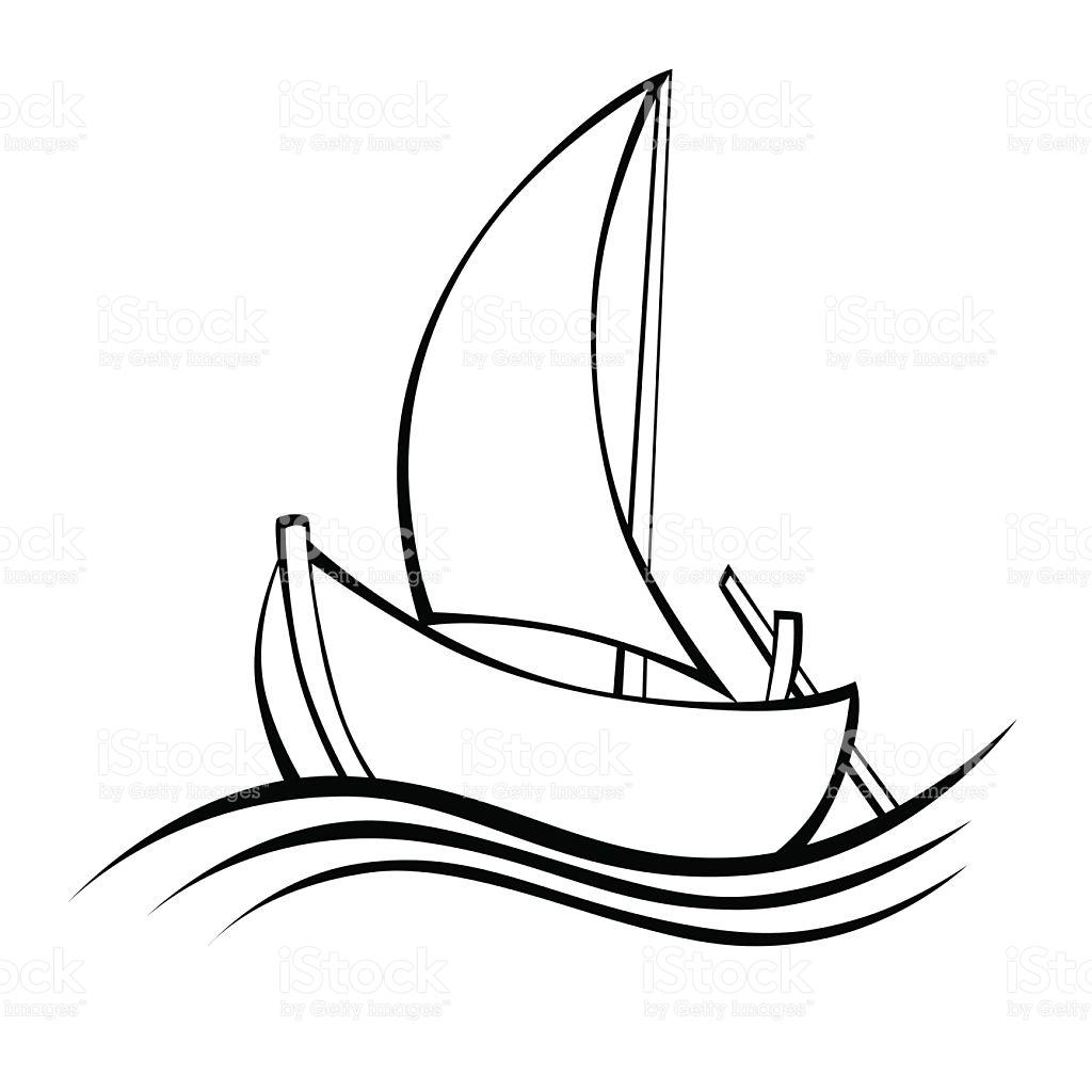 1024x1024 Drawn Sailing Boat Abstract