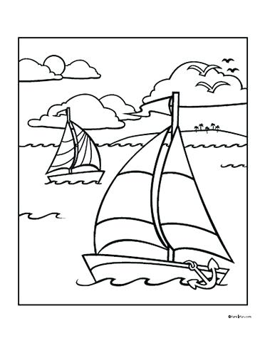 372x482 Free Summer Coloring Pages Free Sailboat Coloring Page Media