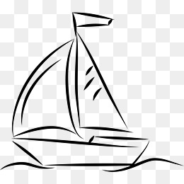 260x260 Hand Drawn Sailboat, Sailboat, Origami Png And Vector For Free