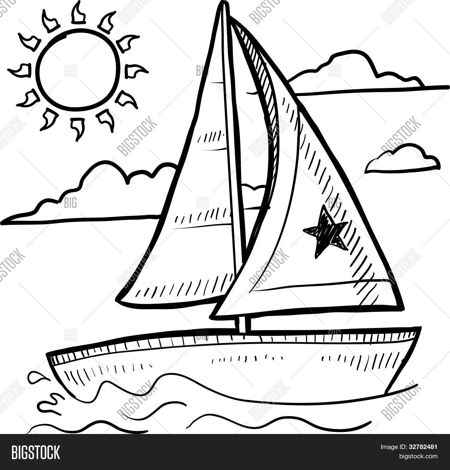 1500x1566 Sailboat Sketch Vector Amp Photo Bigstock