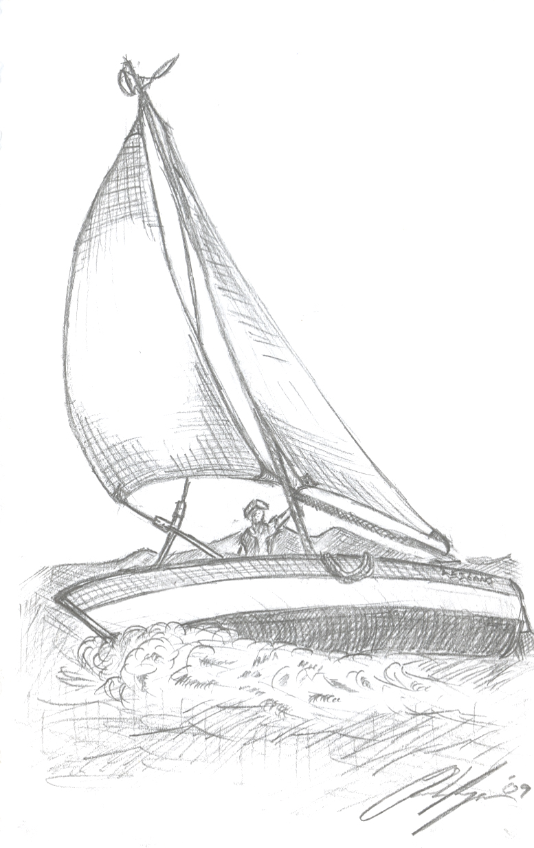 777x1233 Sailboat Sketch By Chahee
