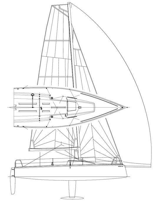 540x686 Sport Keelboat Sailboat Racing Open Transom With Bowsprit