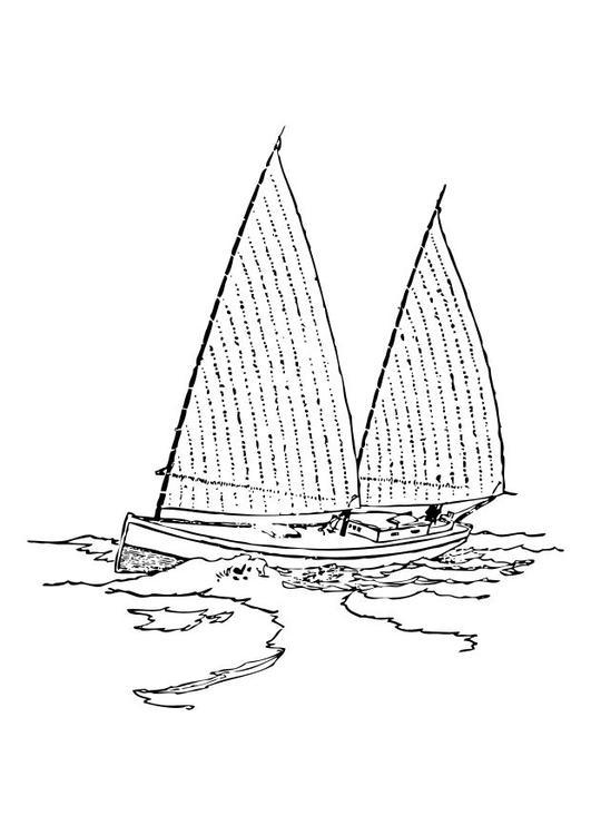 531x750 Coloring Page Sailboat