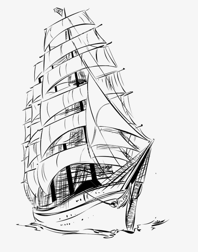 650x825 Chinese Style,sketch,sailboat, Chinese Style, Sketch, Sailboat Png