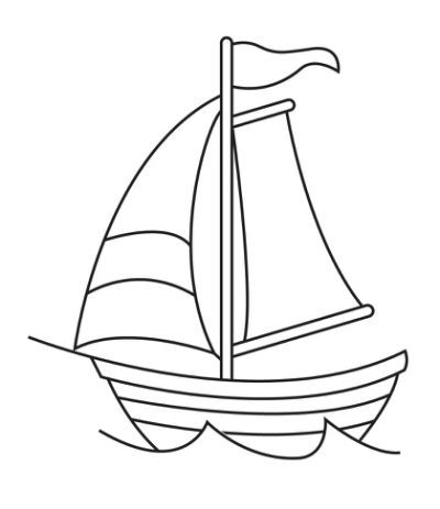 Sailboat Line Drawing