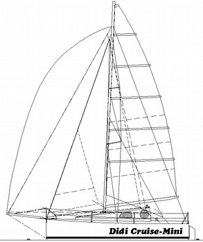 293x350 Didi Cruise Mini Radius Chine Plywood Mini Cruising Sailboat Plans