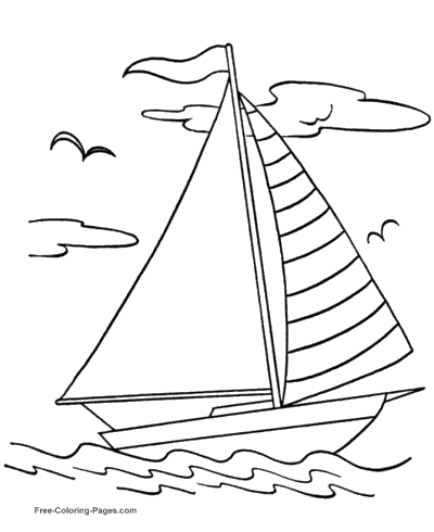 400x490 Boat Coloring Pages