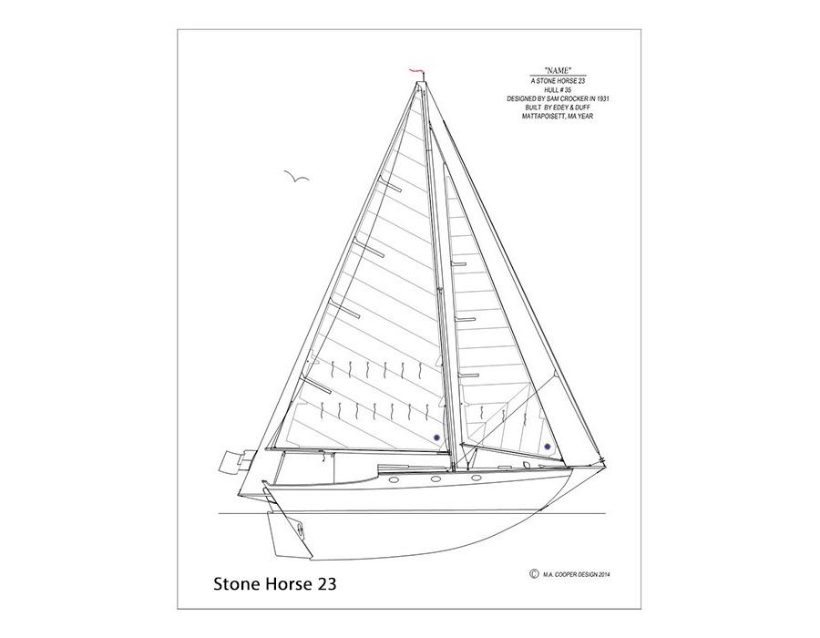 900x700 Custom Classic Boat Prints By Matt Cooper
