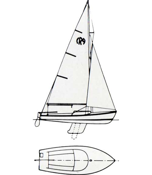 500x573 O'Day Rhodes 19 Sailboat 1967 Bangor Punta Archives