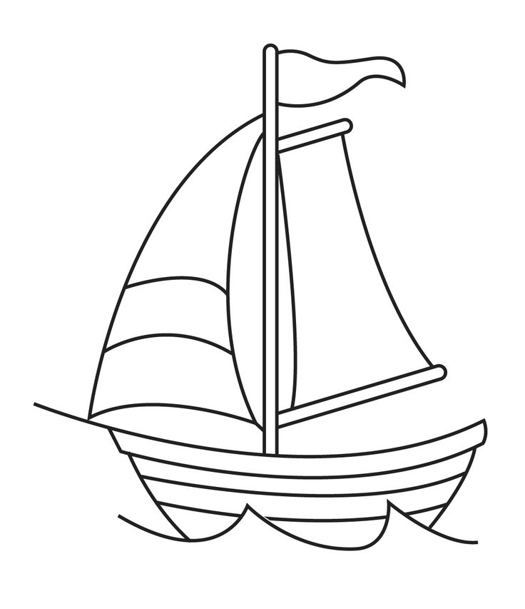 736x853 Sailboat Drawing For Kids Collection