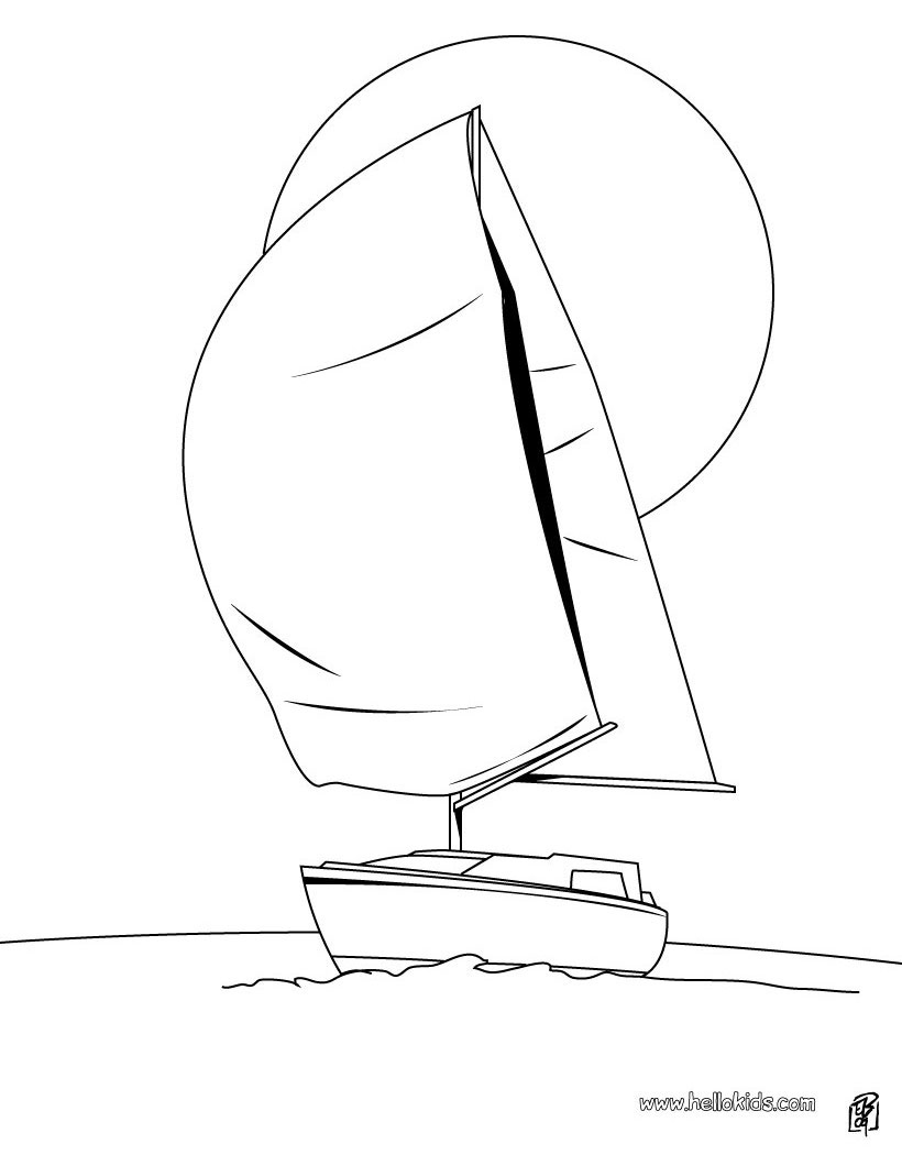 820x1060 Sailing Boat Coloring Pages