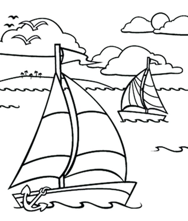 600x704 Ocean Color Pages Sailing Boat In The Ocean Coloring Pages Ocean