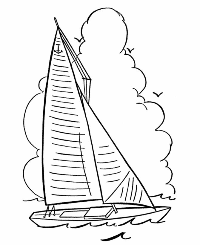 670x820 Sailboat Drawing For Kids Collection 88