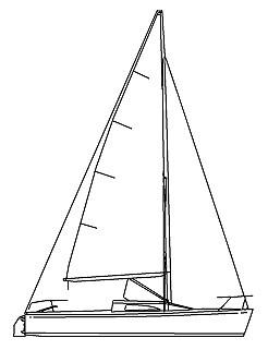 Sailing Boat Line Drawing