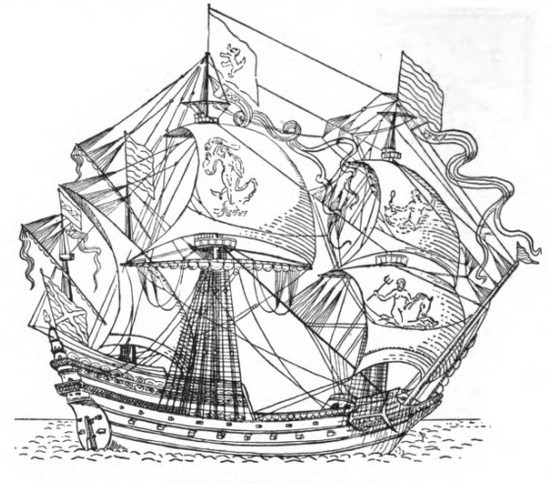 550x484 The Rise Of The Full Rigged Ships, A.d. 1400 1600