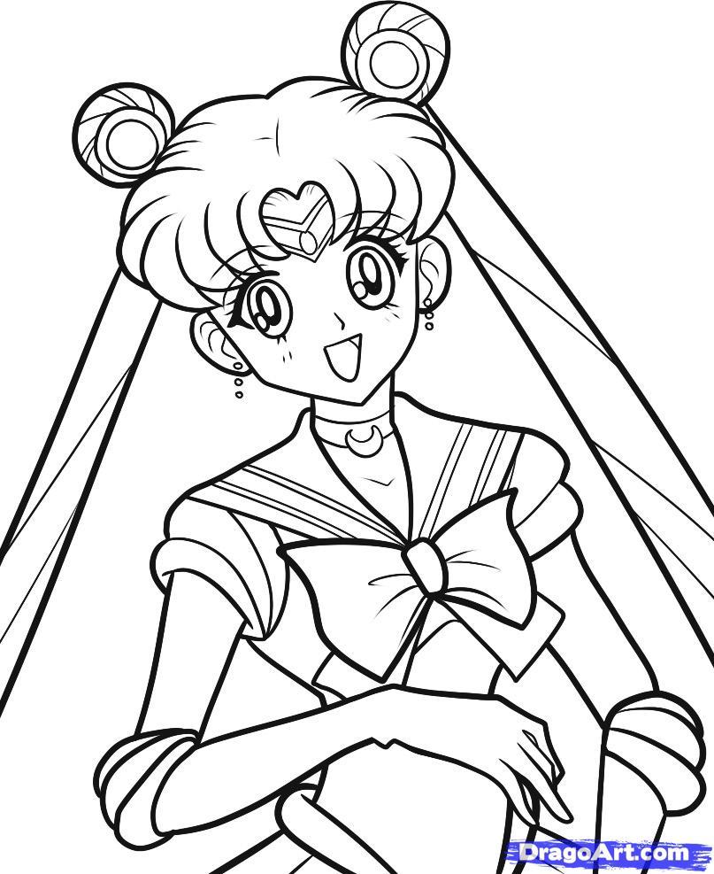 807x987 Sailor Moon Drawing Tutorial How To Draw Sailor Moon, Sailor Moon