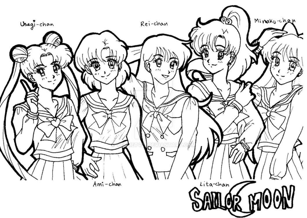 1060x753 Sailor Moon Gang By Verliet427