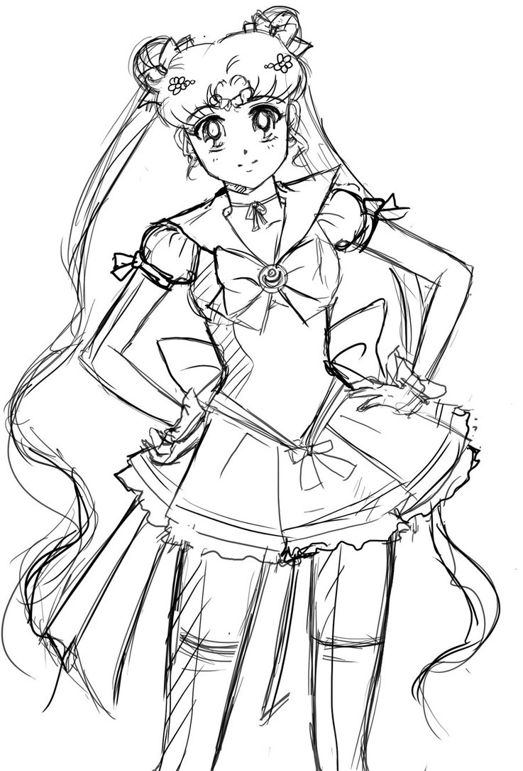 Sailor Moon Drawing At Getdrawings Com Free For Personal Use