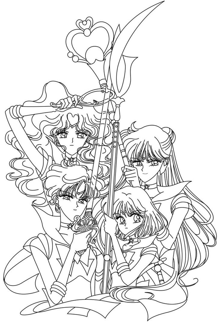 736x1068 130 Best Sailor Moon Coloring Book Images On Pinterest