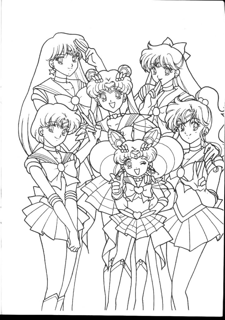 722x1024 Coloring Page For Sailor Moon