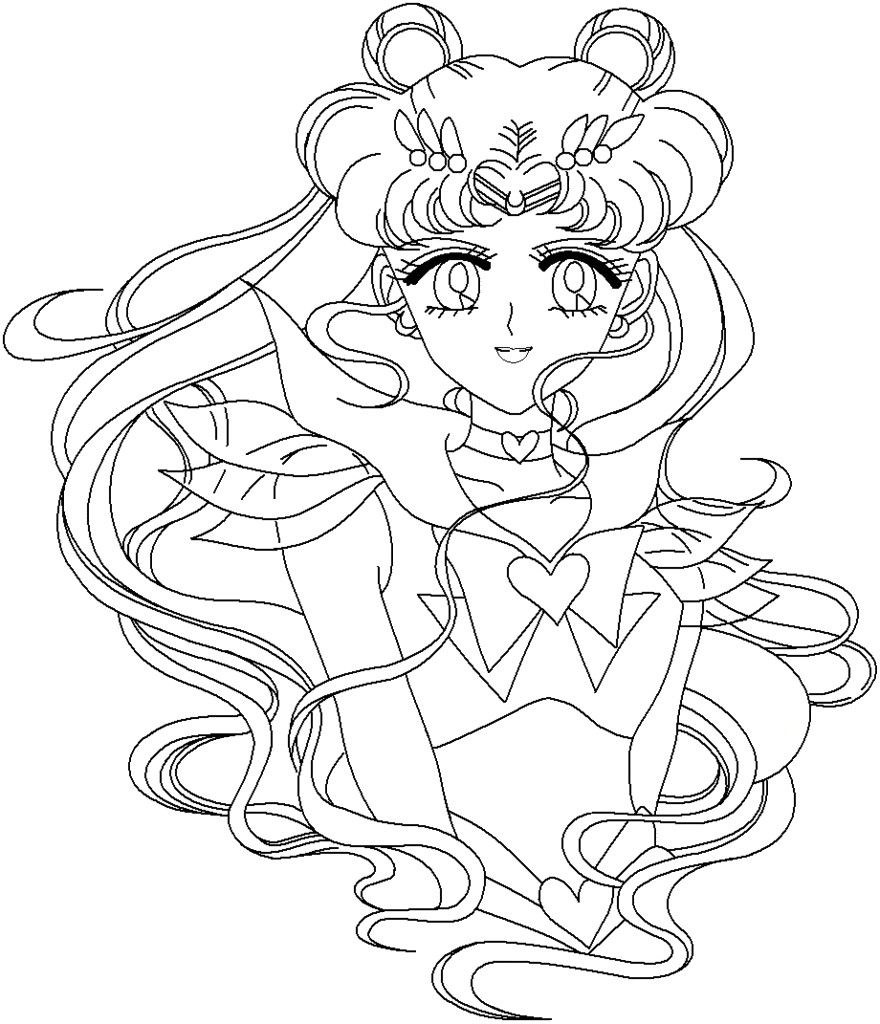 880x1024 Coloring Pages Of Sailor Moon Coloring Book Sailor