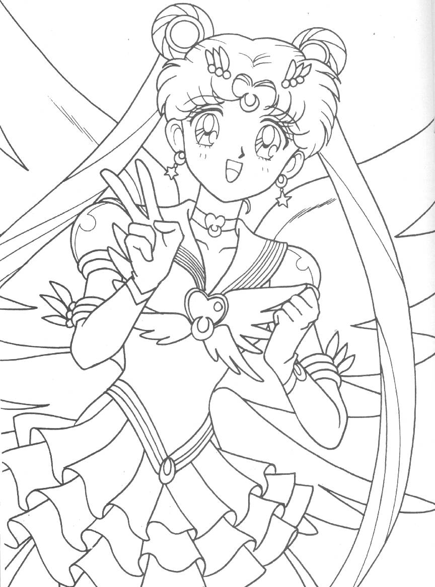 864x1167 Eternal Sailor Moon Coloring Page