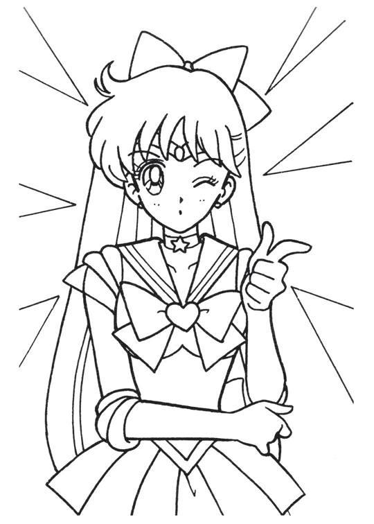 540x756 Sailor Moon Series Coloring Pages Sailor Venus Sailor Moon