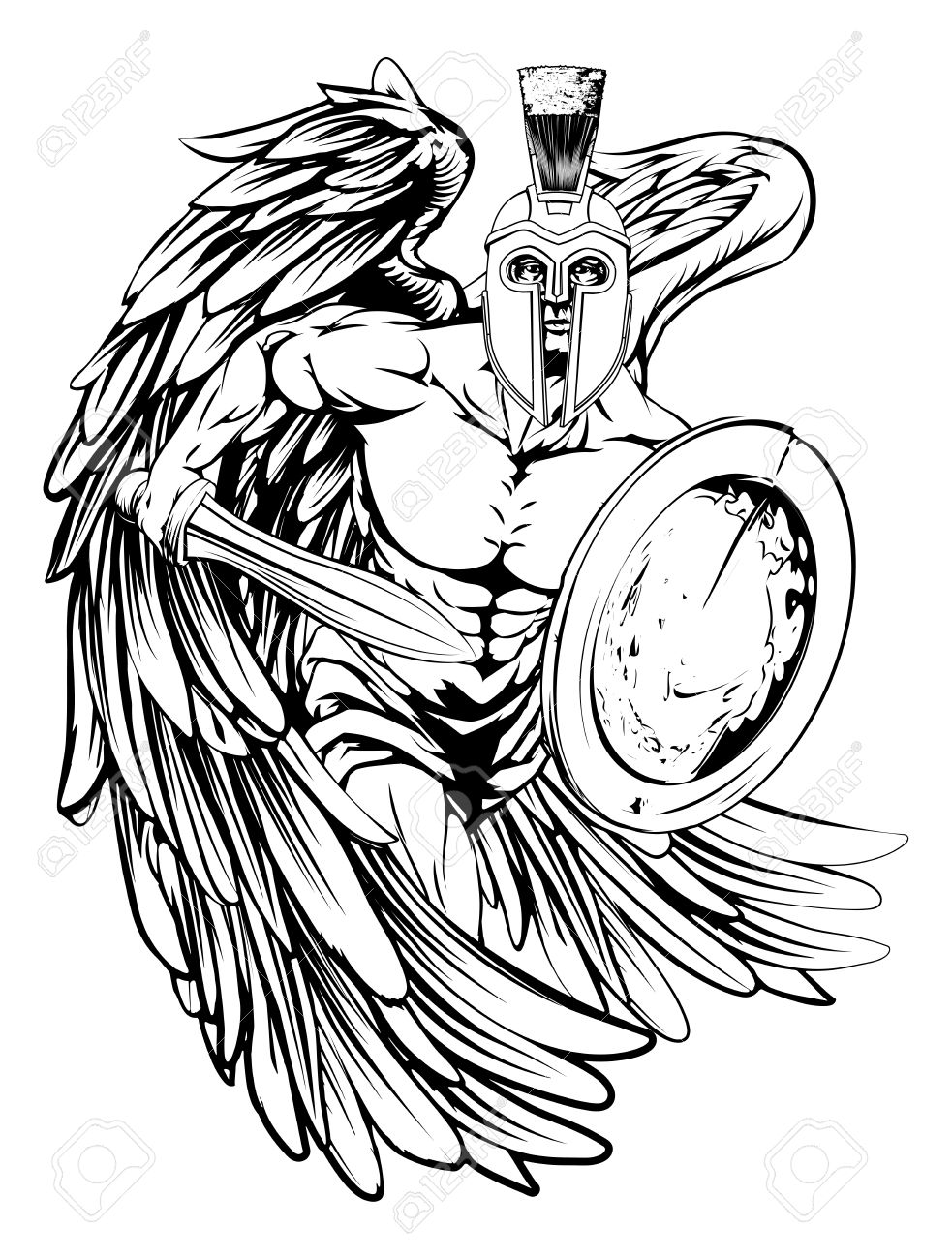 Saint Michael Drawing