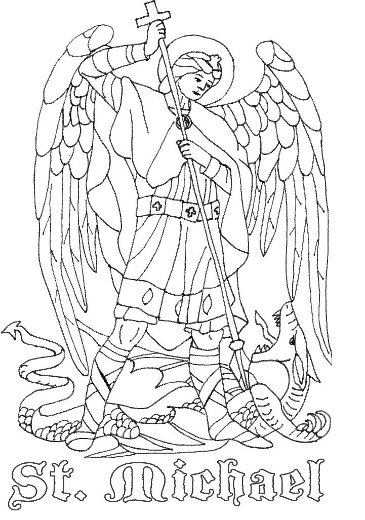 721x1027 Saint Coloring Pages St The Archangel Catholic Coloring Page